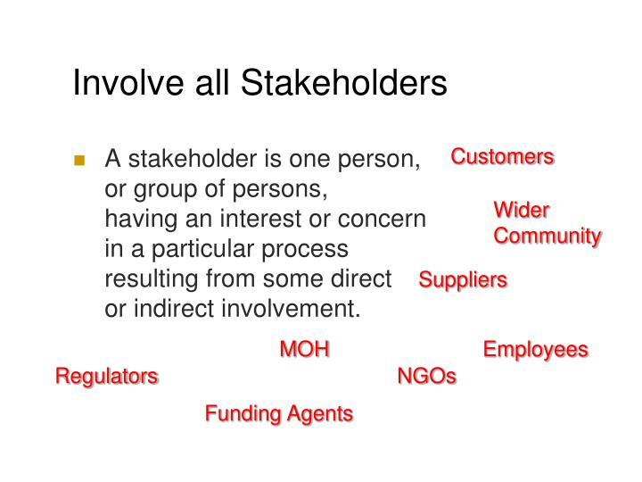 Involve all Stakeholders