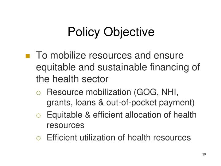 Policy Objective