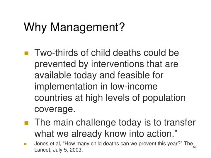 Why Management?