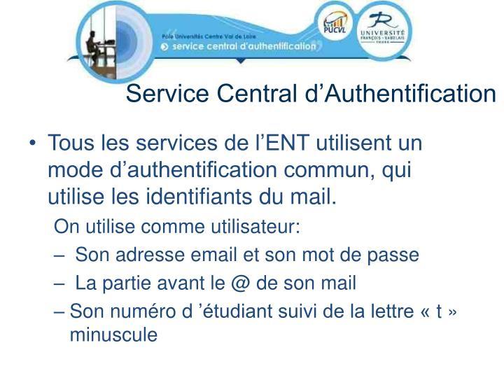 Service Central d'Authentification