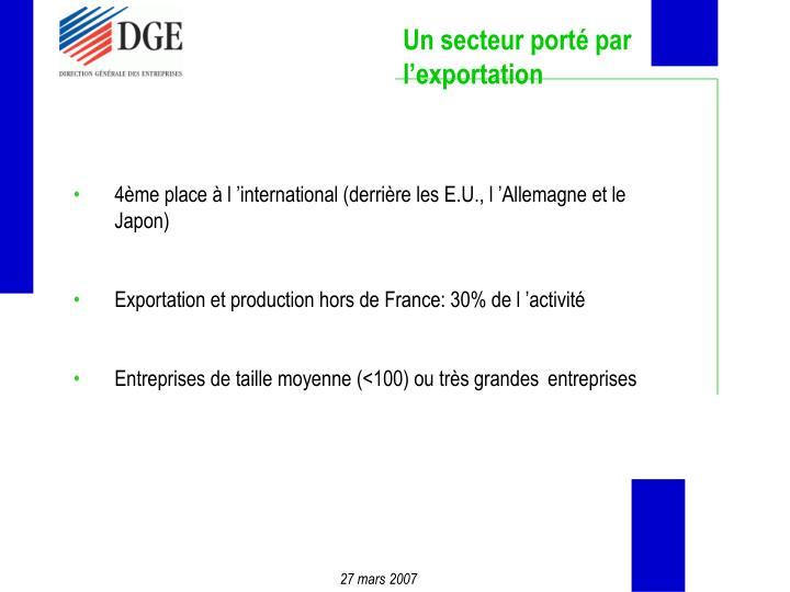 Un secteur porté par l'exportation