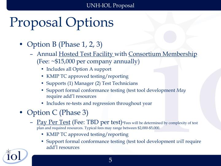 Proposal Options