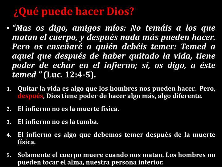 ¿Qué puede hacer Dios?