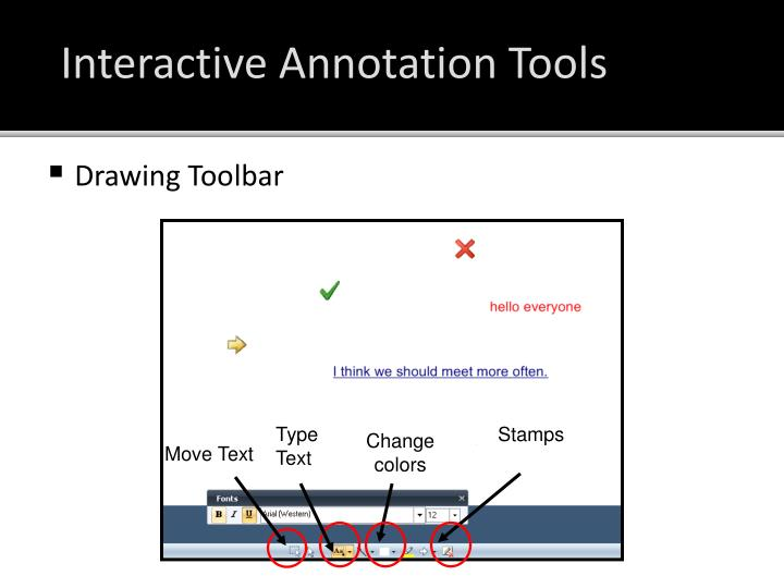 Interactive Annotation Tools