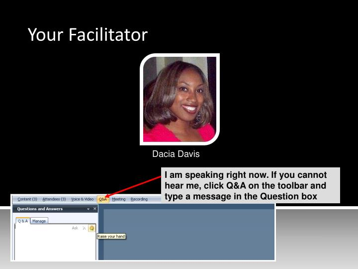 Your Facilitator