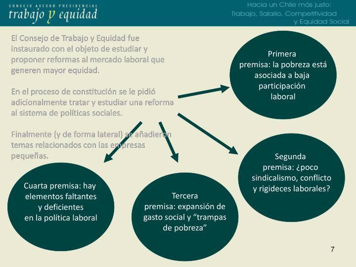 El Consejo de Trabajo y Equidad fue instaurado con el objeto de estudiar y proponer reformas al mercado laboral que generen mayor equidad.