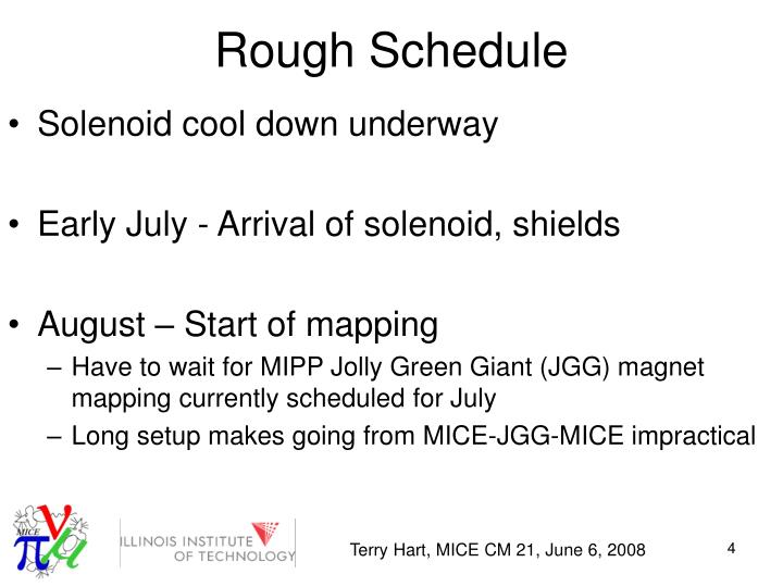 Rough Schedule