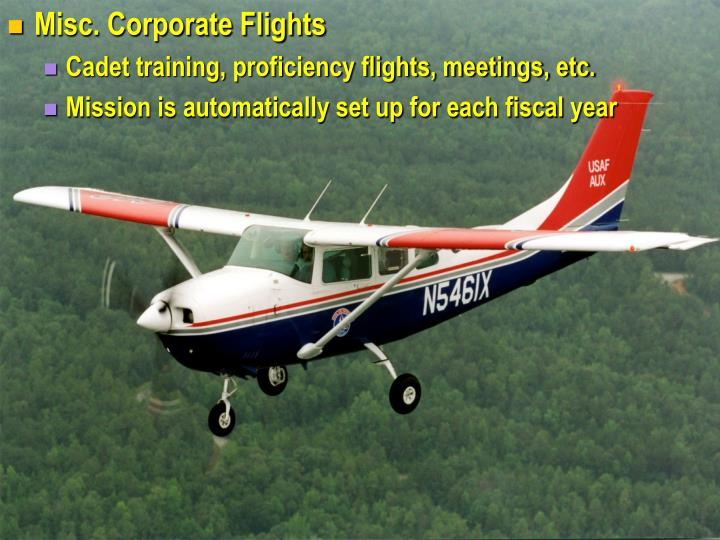 Misc. Corporate Flights