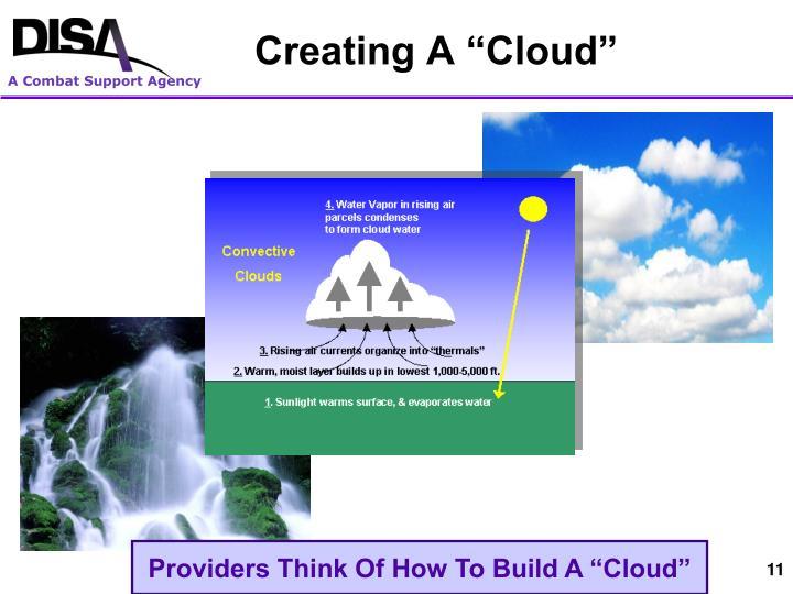 "Creating A ""Cloud"""