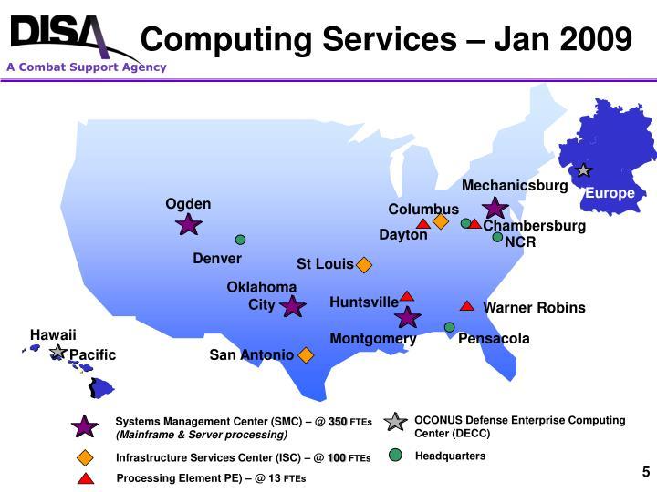 Computing Services – Jan 2009