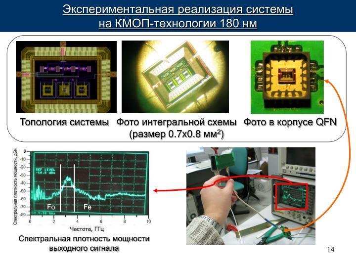Экспериментальная реализация системы