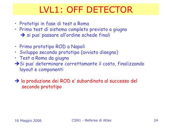 LVL1: OFF DETECTOR