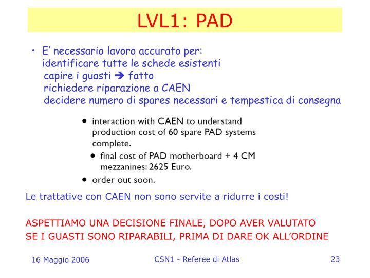 LVL1: PAD