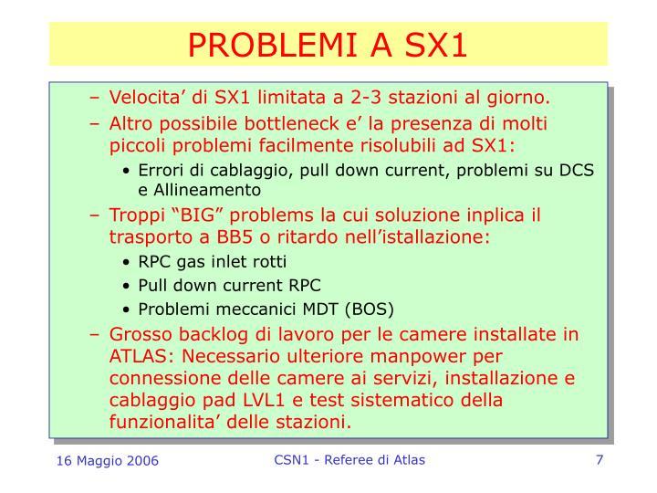 PROBLEMI A SX1