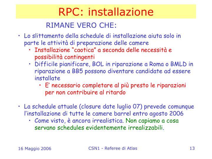 RPC: installazione