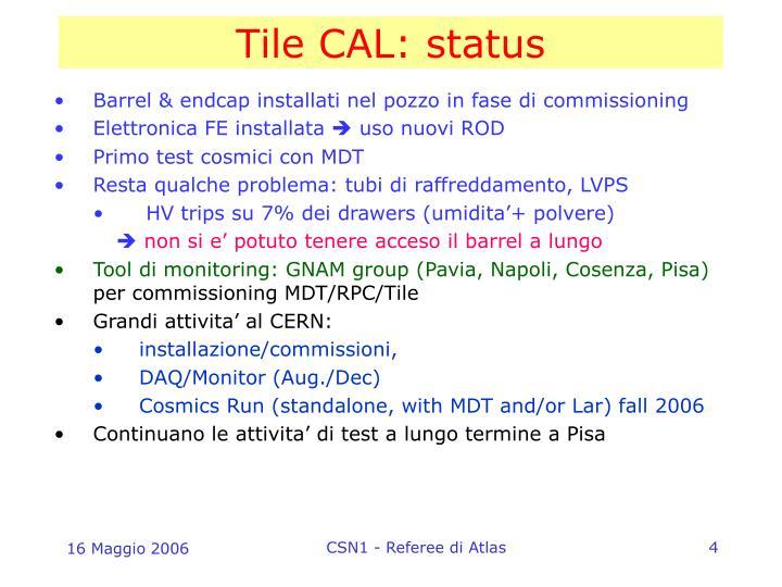 Tile CAL: status