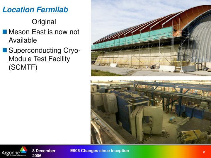 Location Fermilab