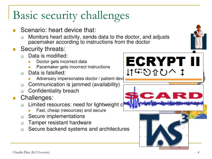 Basic security challenges