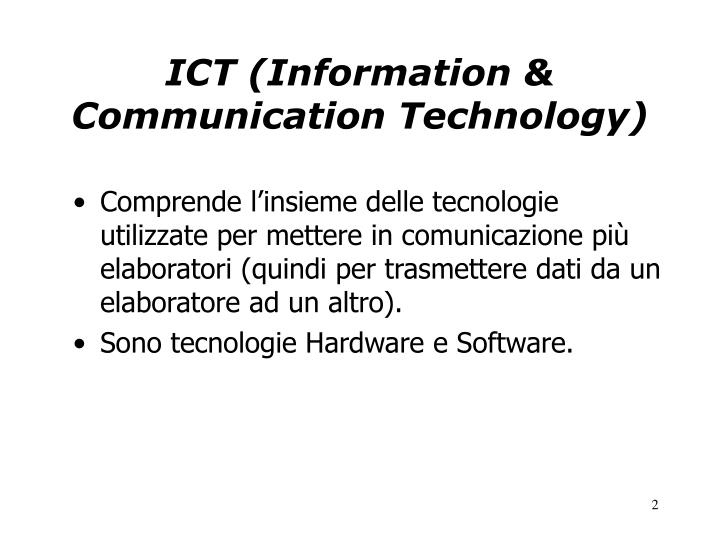 Ict information communication technology