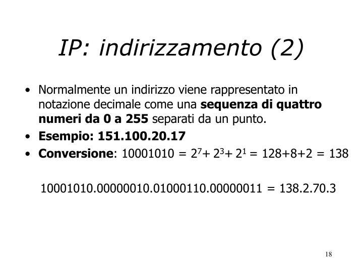 IP: indirizzamento (2)