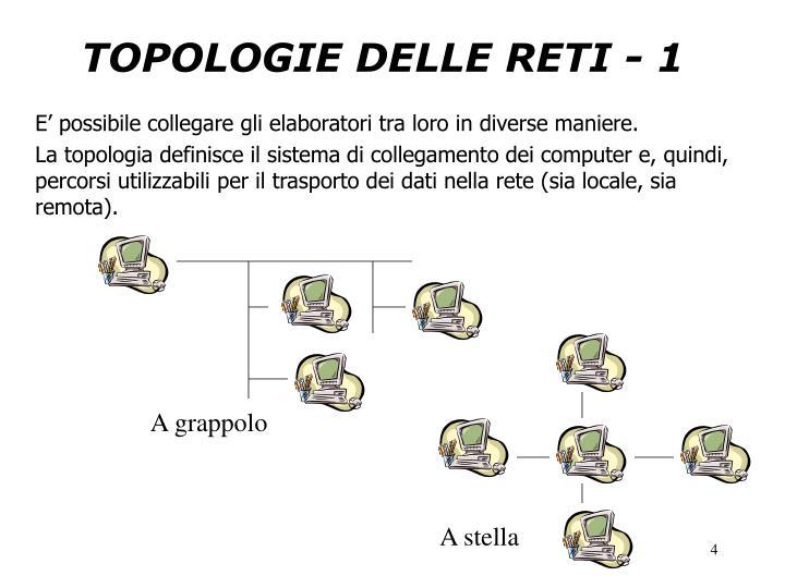 TOPOLOGIE DELLE RETI - 1