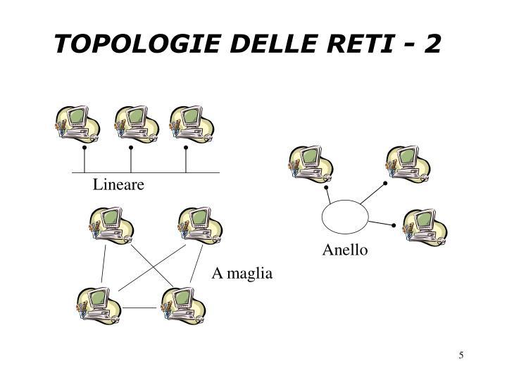 TOPOLOGIE DELLE RETI - 2