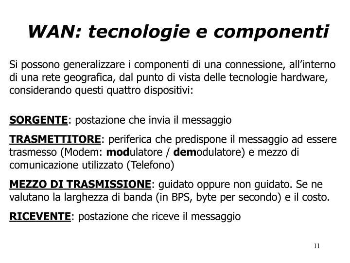 WAN: tecnologie e componenti