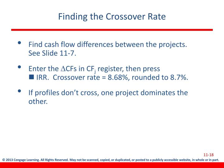 Finding the Crossover Rate