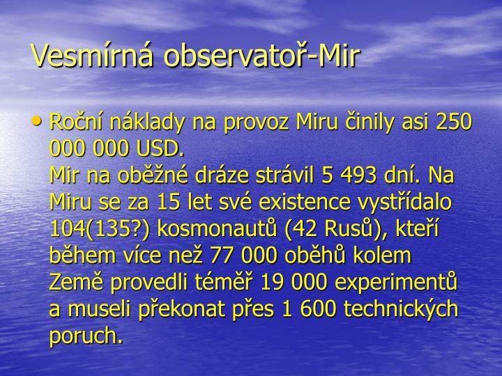 Vesmírná observatoř-Mir
