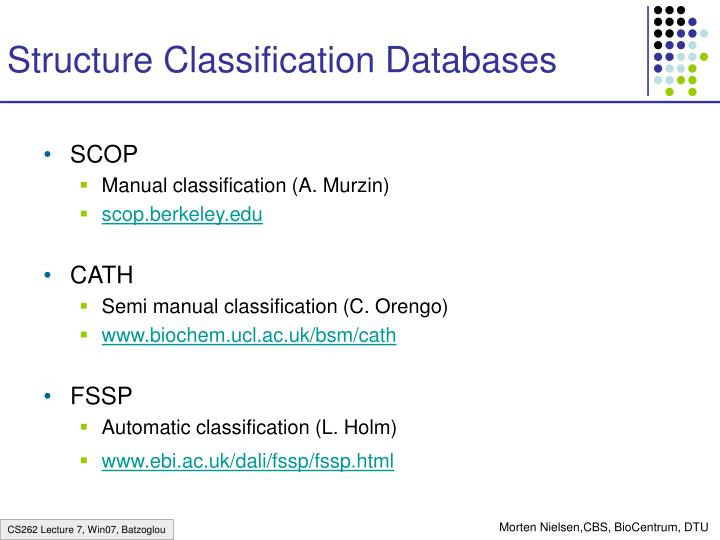 Structure Classification Databases