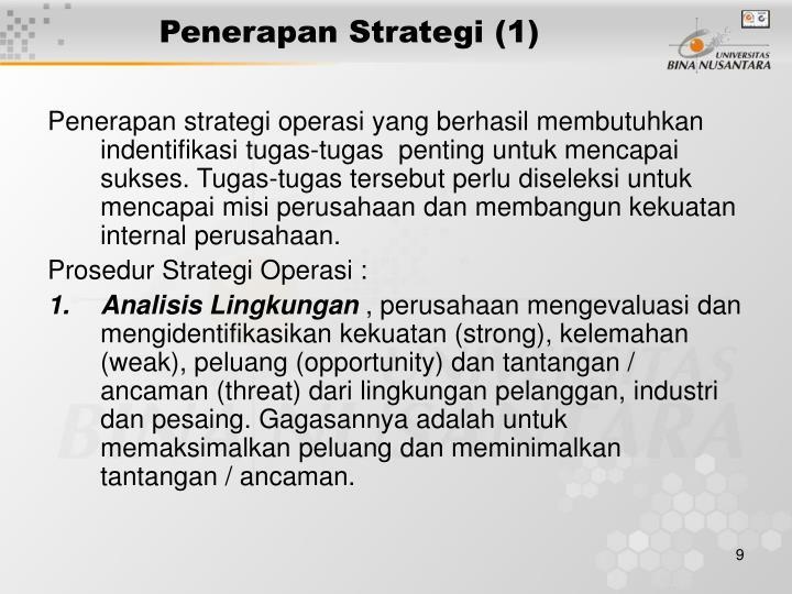 Penerapan Strategi (1)