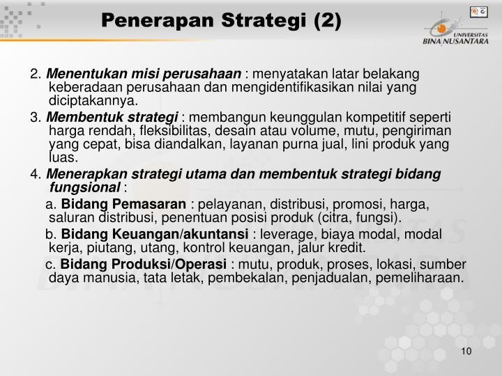 Penerapan Strategi (2)