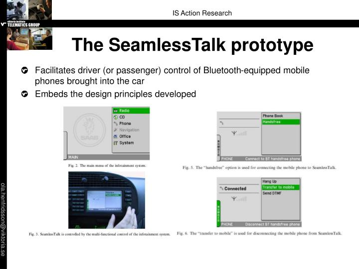 The SeamlessTalk prototype