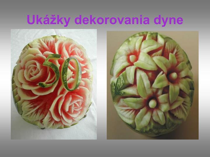 Ukážky dekorovania dyne