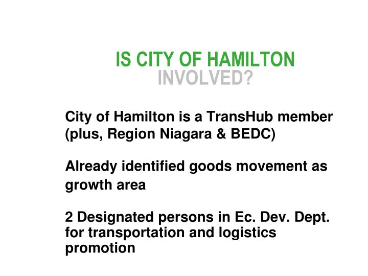 IS CITY OF HAMILTON