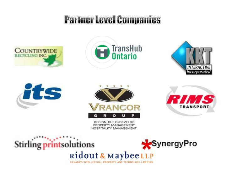 Partner Level Companies