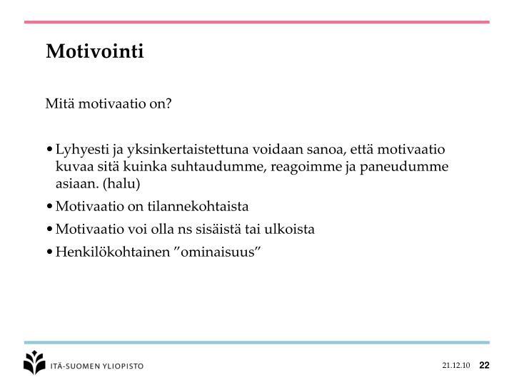 Motivointi