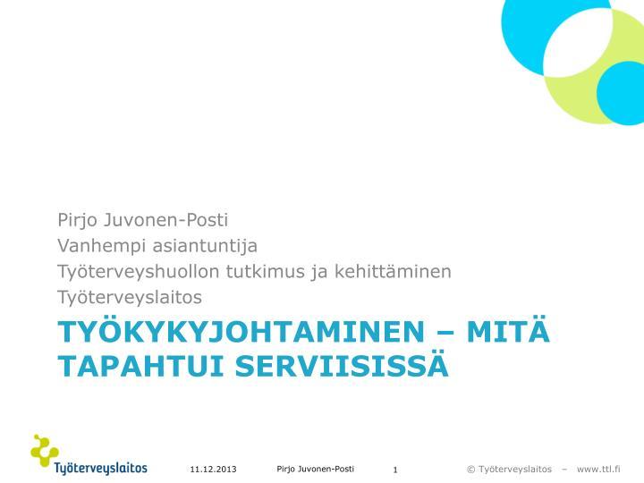 Pirjo Juvonen-Posti