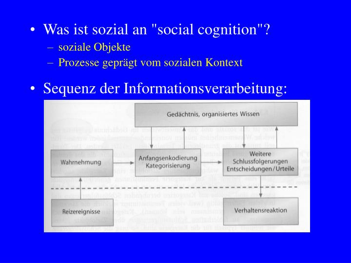 """Was ist sozial an """"social cognition""""?"""