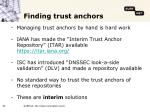 finding trust anchors