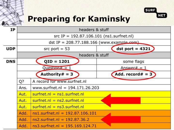 Preparing for Kaminsky