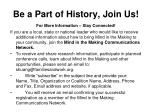 be a part of history join us