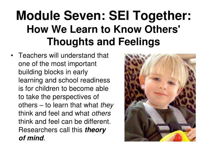 Module Seven: SEI Together: