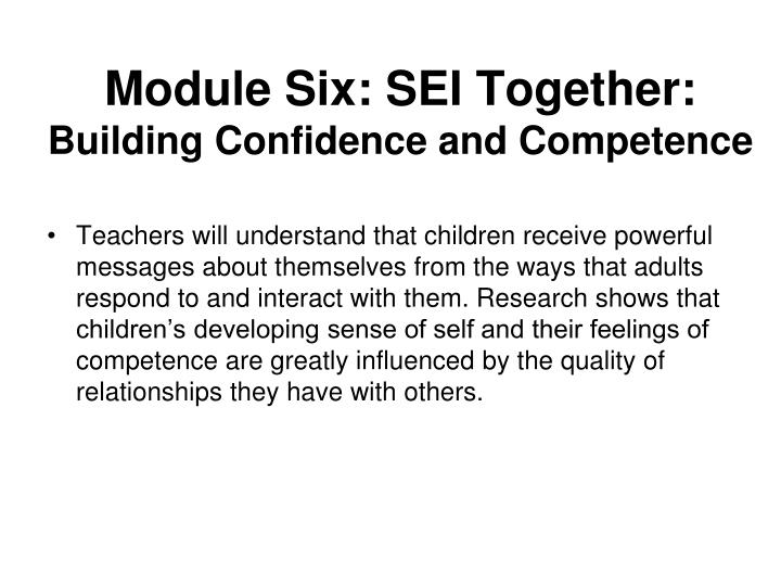 Module Six: SEI Together: