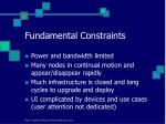 fundamental constraints