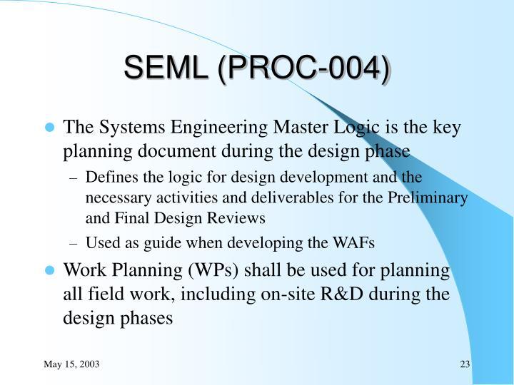 SEML (PROC-004)
