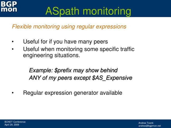 ASpath monitoring