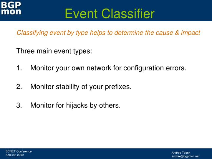 Event Classifier
