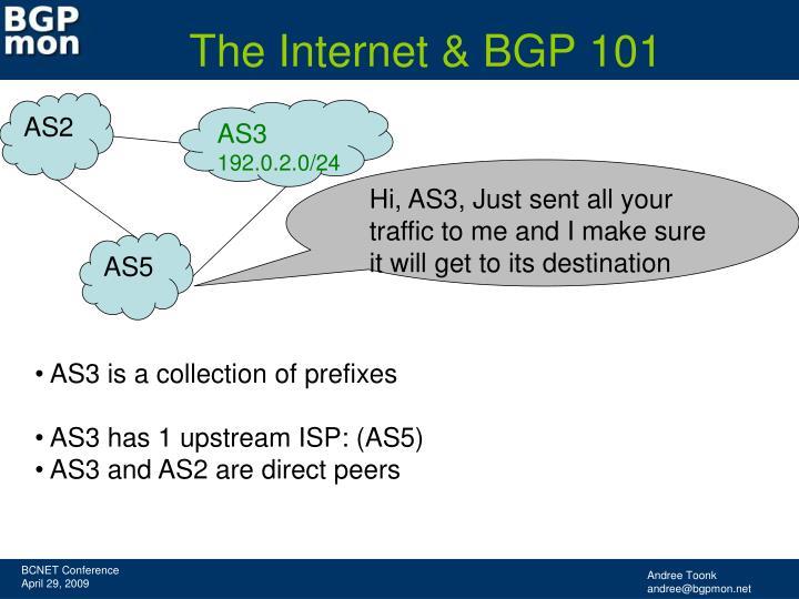 The Internet & BGP 101