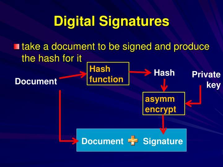 Digital Signatures